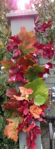 Completed Fall Leaf Garland