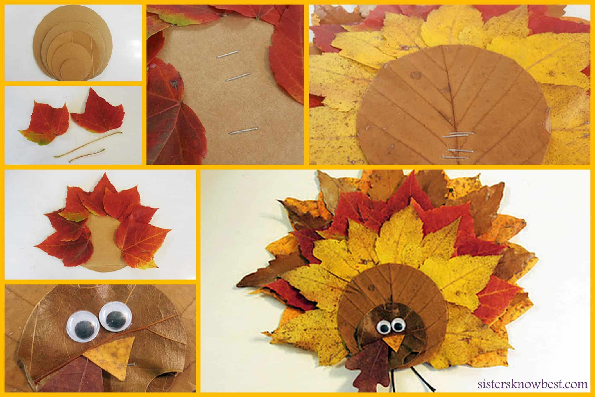 Easy diy thanksgiving fall leaves turkey decoration for Diy thanksgiving crafts