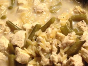 Lemon Chicken Orzo with Green Beans
