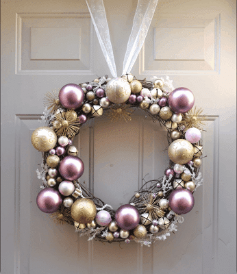 again wreath form hot glue and a ribbon i got the picture from a search and the owners blog has been removed you get the idea