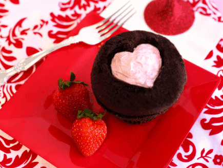Heart Shaped Cupcake Cutout