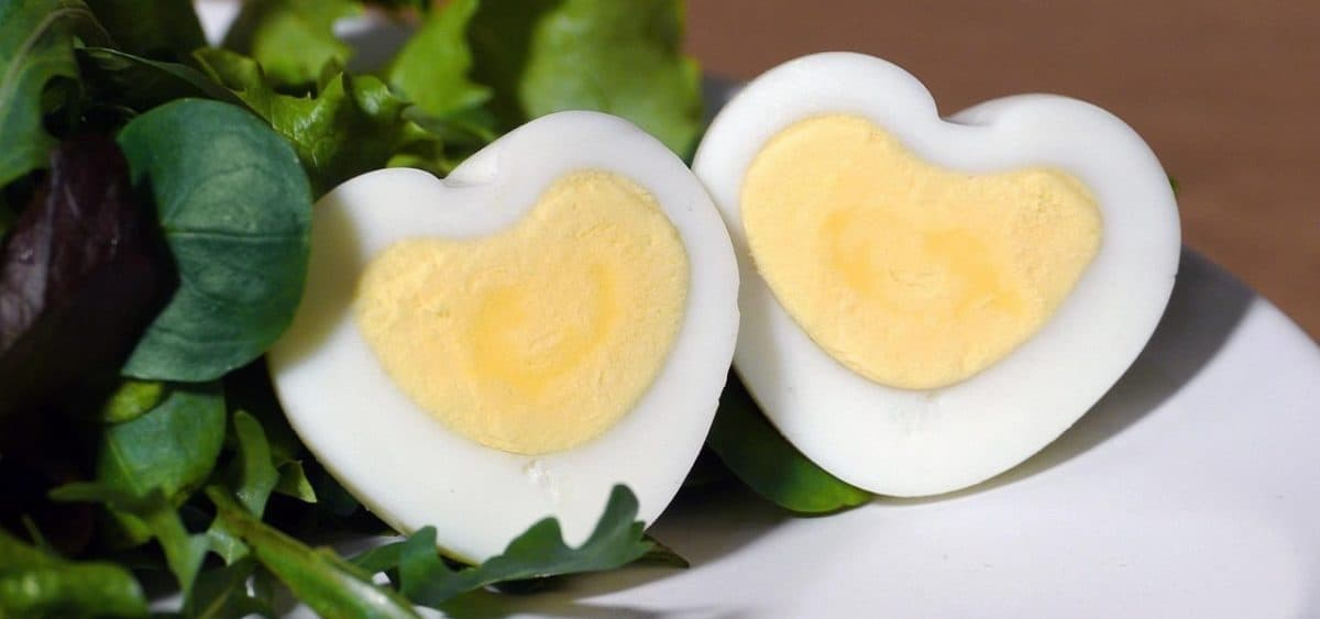 Heart Shaped Hard Boiled Egg for Valentine's Day