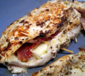 Feta and Bacon Stuffed Chicken Breast