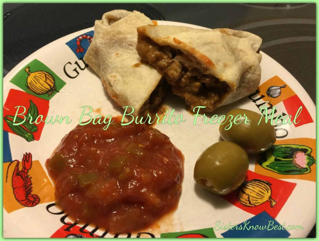 Brown Bag Beef Burrito Freezer Recipe