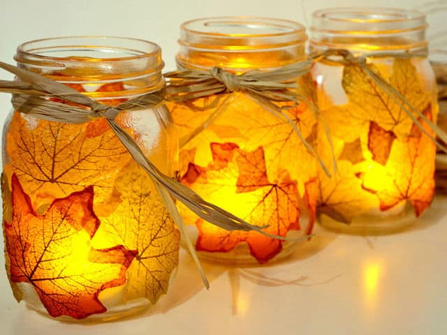 Fall Mason Jar Candle Craft
