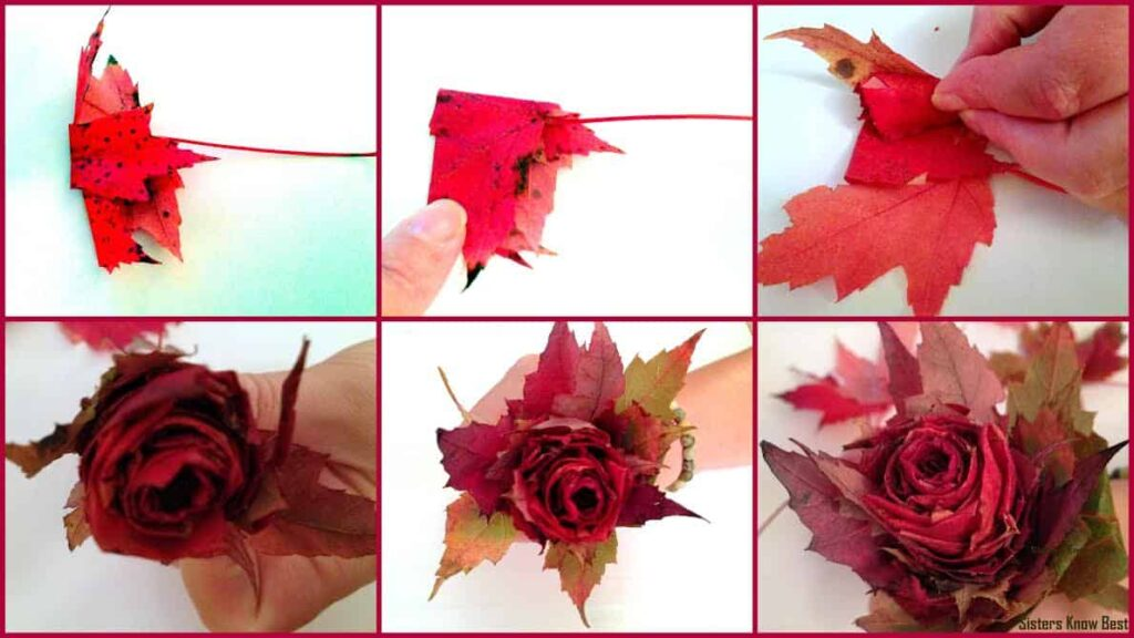 Nicole Duke Fall Leaf Rose Tutorial