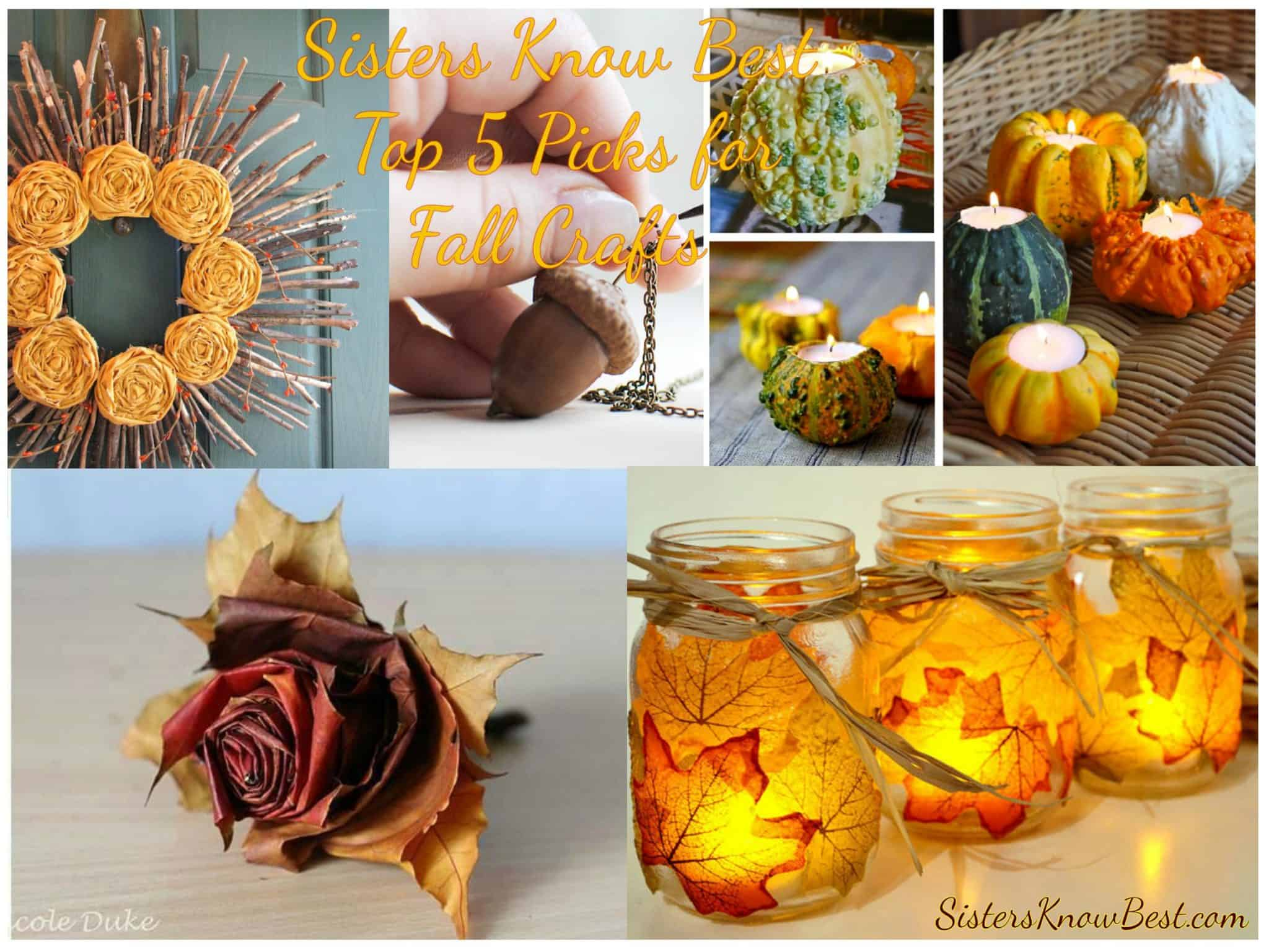 Sisters know best top 5 picks for fall crafts sisters for Fall diy crafts pinterest