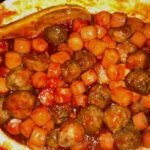 Crockpot Sweet and Sour Meatballs and Hotdogs