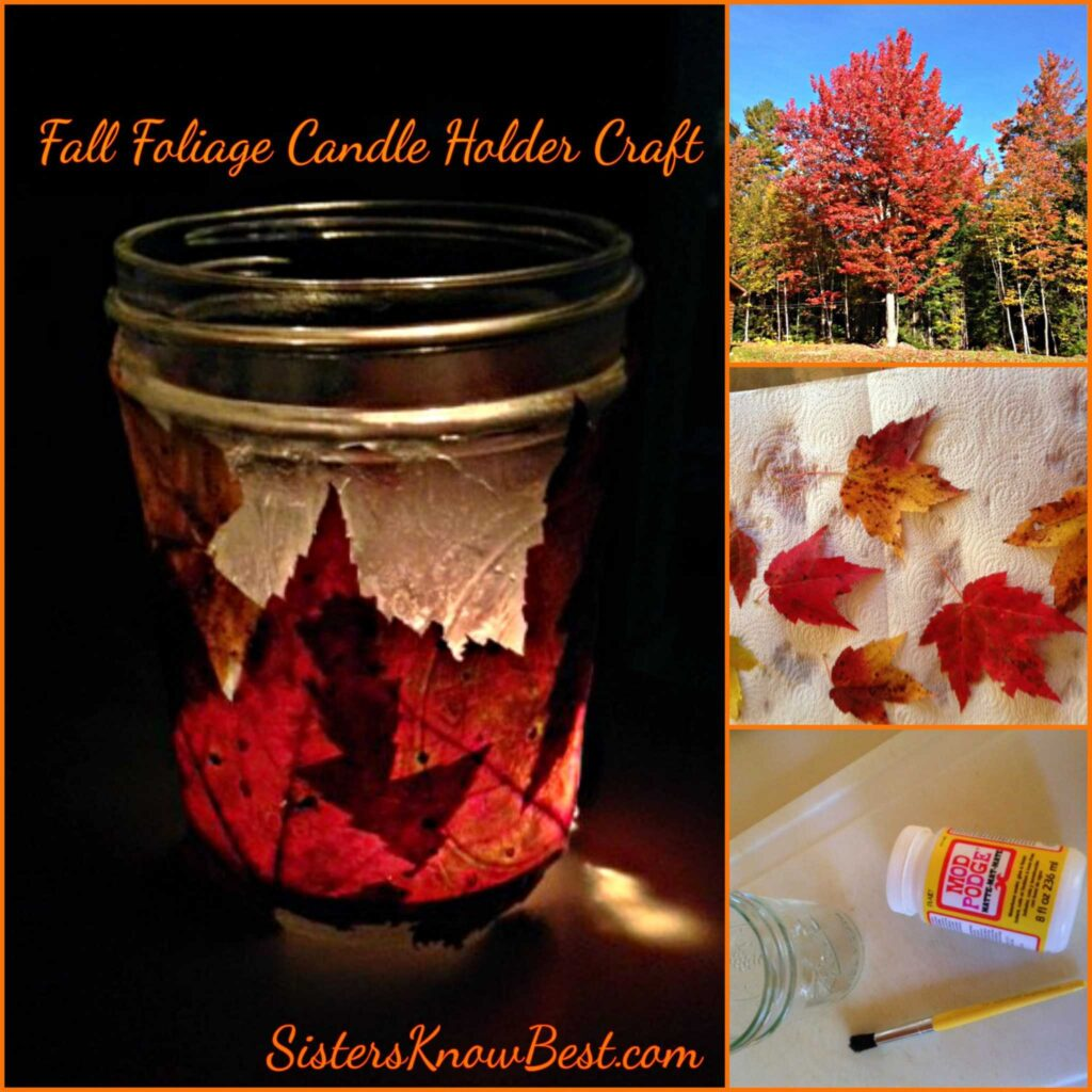 Fall Foliage Candle Holder