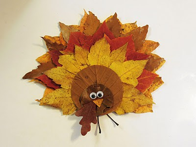 Fall Leaf Turkey for Thanksgiving