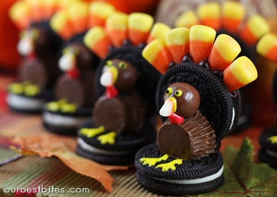 Thanksgiving Oreo Turkey Treats