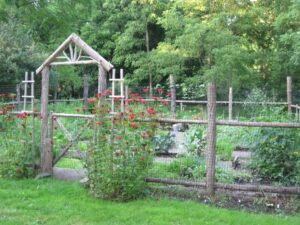 Fence with gate and arbor