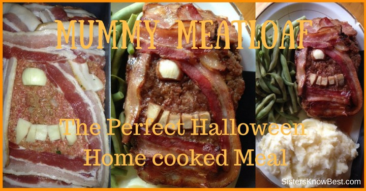Halloween Mummy Meatloaf recipe