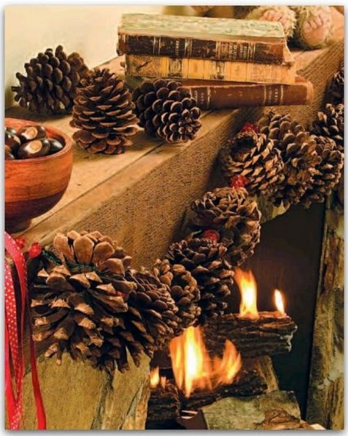 Pine Cone Garland Craft Idea