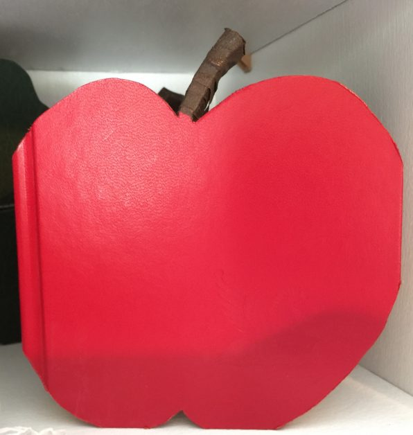 Seasonal Apple for Recycled Book Crafts