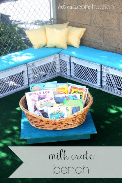 DIY Milk Crate Bench