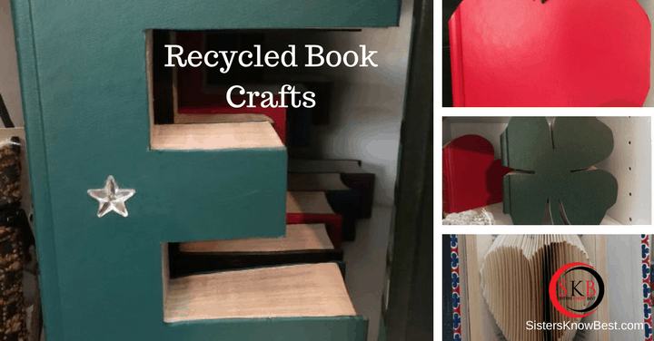 Recycled book crafts using old books to create new art for for Best craft books 2017