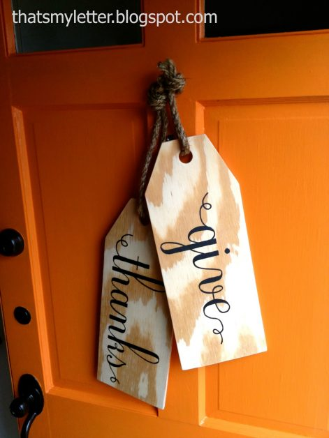 Wood door tags