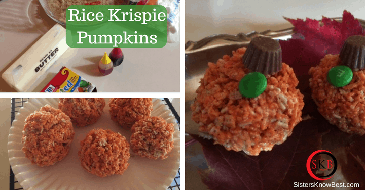 Rice Krispie Pumpkins by Sisters Know Best