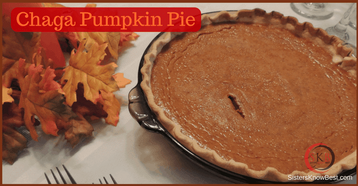 Chaga Chai Pumpkin Pie by Sisters Know Best