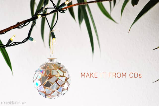 DIY Mosaic Christmas Ornament