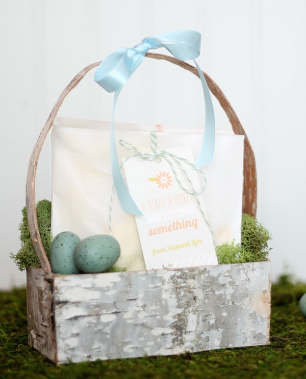 Incredible diy easter baskets from sisters know best easter basket with birch bark negle Image collections