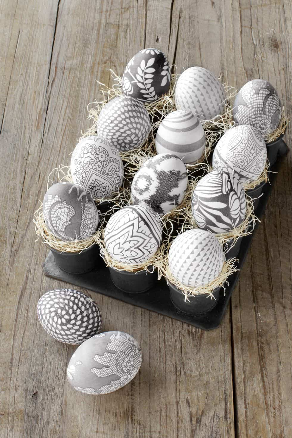 Easter Decoration - Silk Eggs
