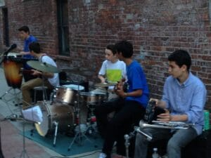 Great Barrington, MA Children playing in the alley