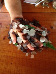 Sea glass found on the northern shores of Prince Edward Island