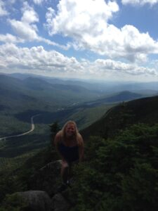 Edge of Cannon Mountain in Franconia New Hampshire