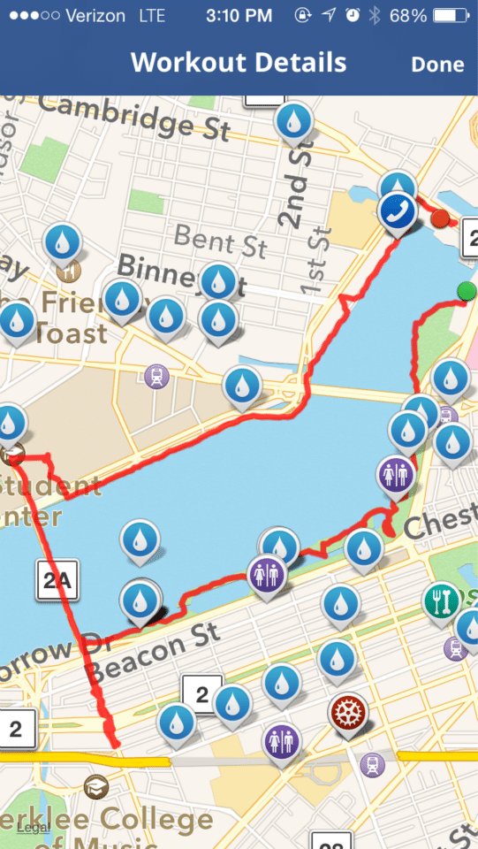 Our Map My Fitness Map Of Charles River Esplanade Walk