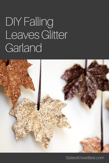 Fall leaf glitter garland