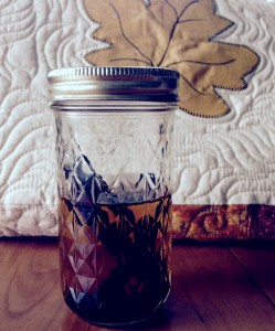 Homemade organic vanilla extract