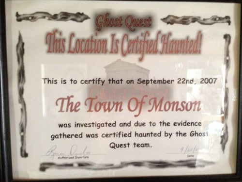 Ghost Quest Certificate