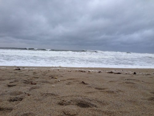 Angry ocean at Hampton Beach NH