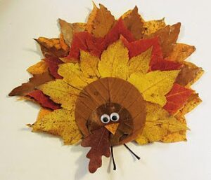 Easy DIY Fall Leaf Turkey Decoration