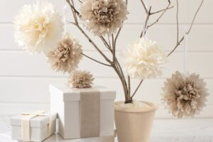 Easy DIY Tissue Paper Flowers