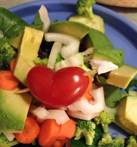 Heart tomatoes for Valentine's Day