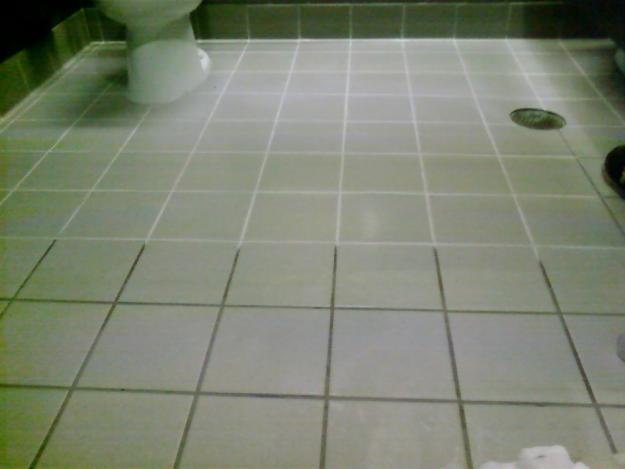 Before and after of tile grout