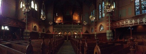 Inside Old South Church in Boston