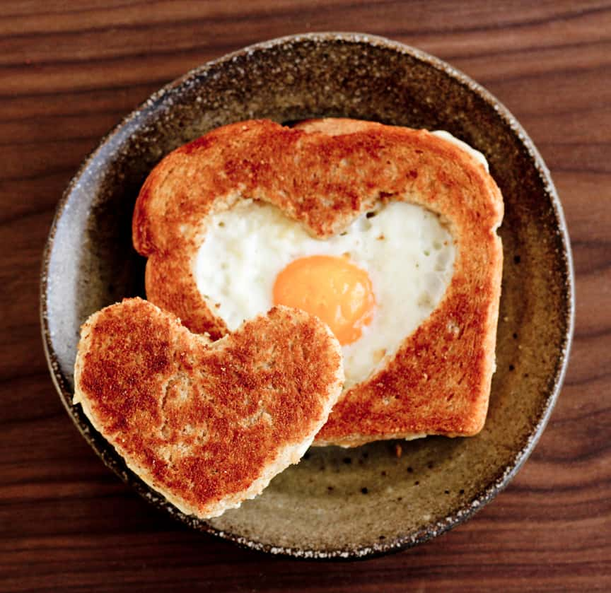 Heart Shaped Fried Egg
