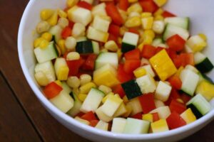 Cubed Vegetables