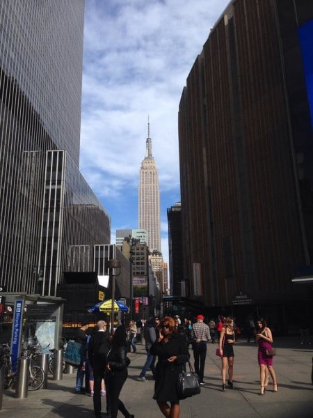 Penn Station area looking at Empire State Building