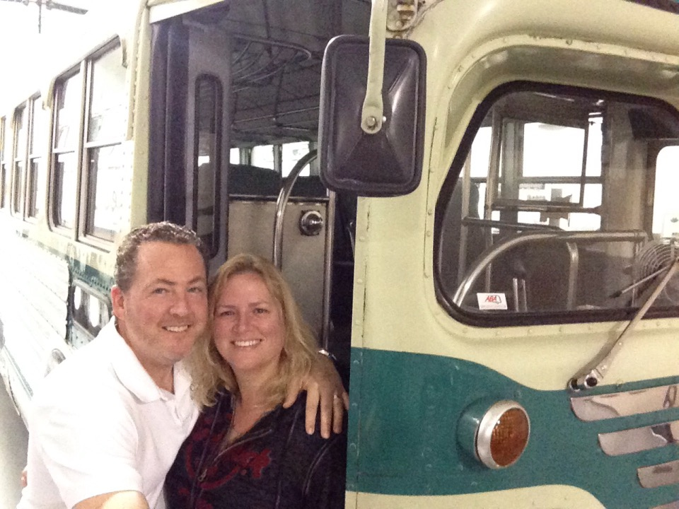 Forest Gump bus in Hershey PA