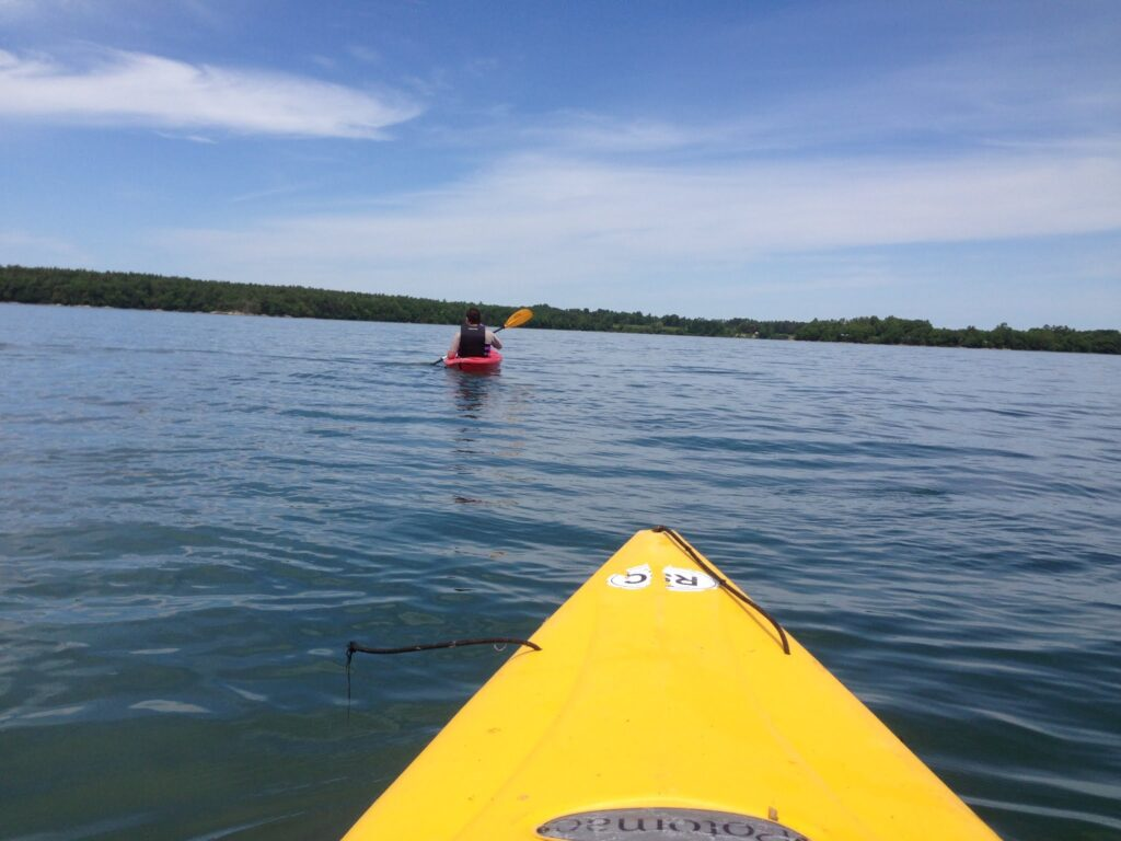 Kayaking on Casco Bay