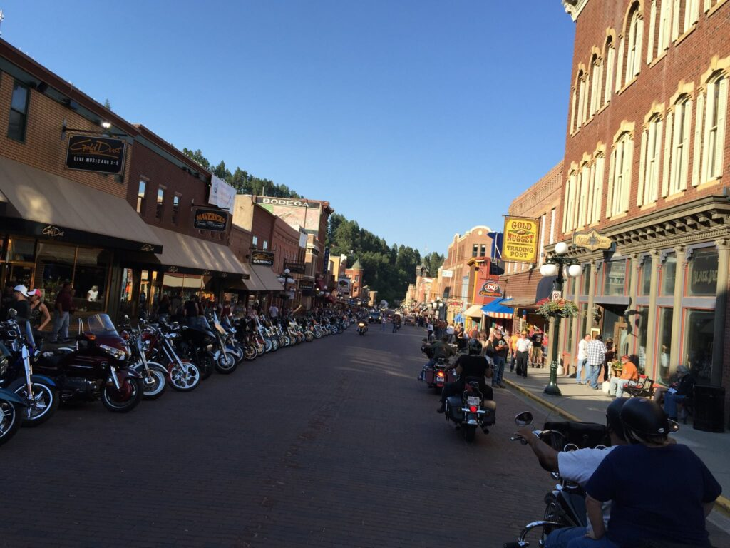 Motorcycles on Main Stree in Deadwood