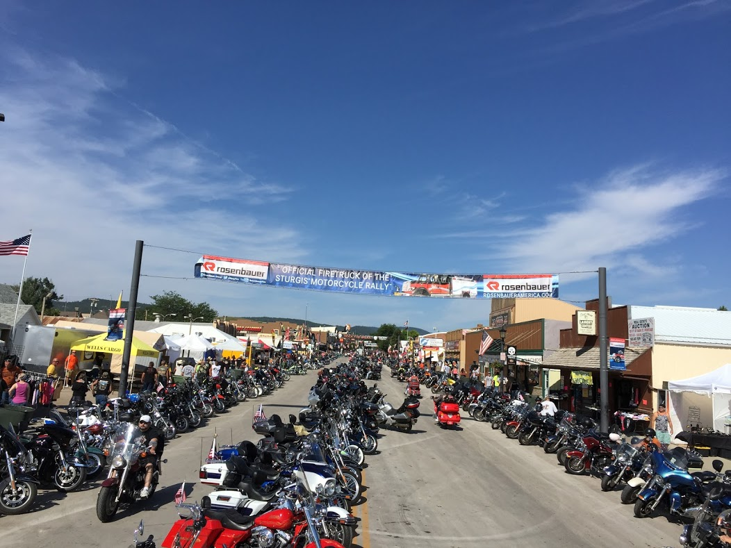 Main Street of Sturgis, South Dakota