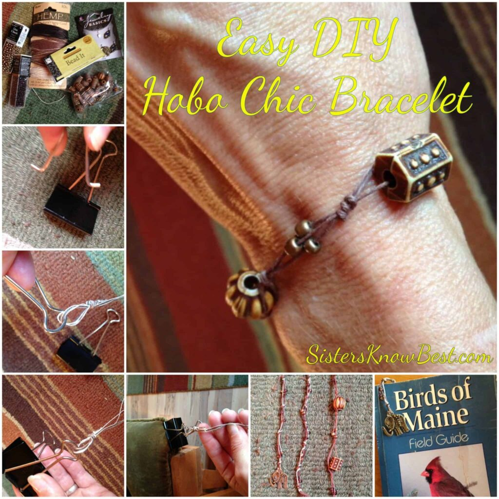 Easy DIY Hobo Chic Bracelet