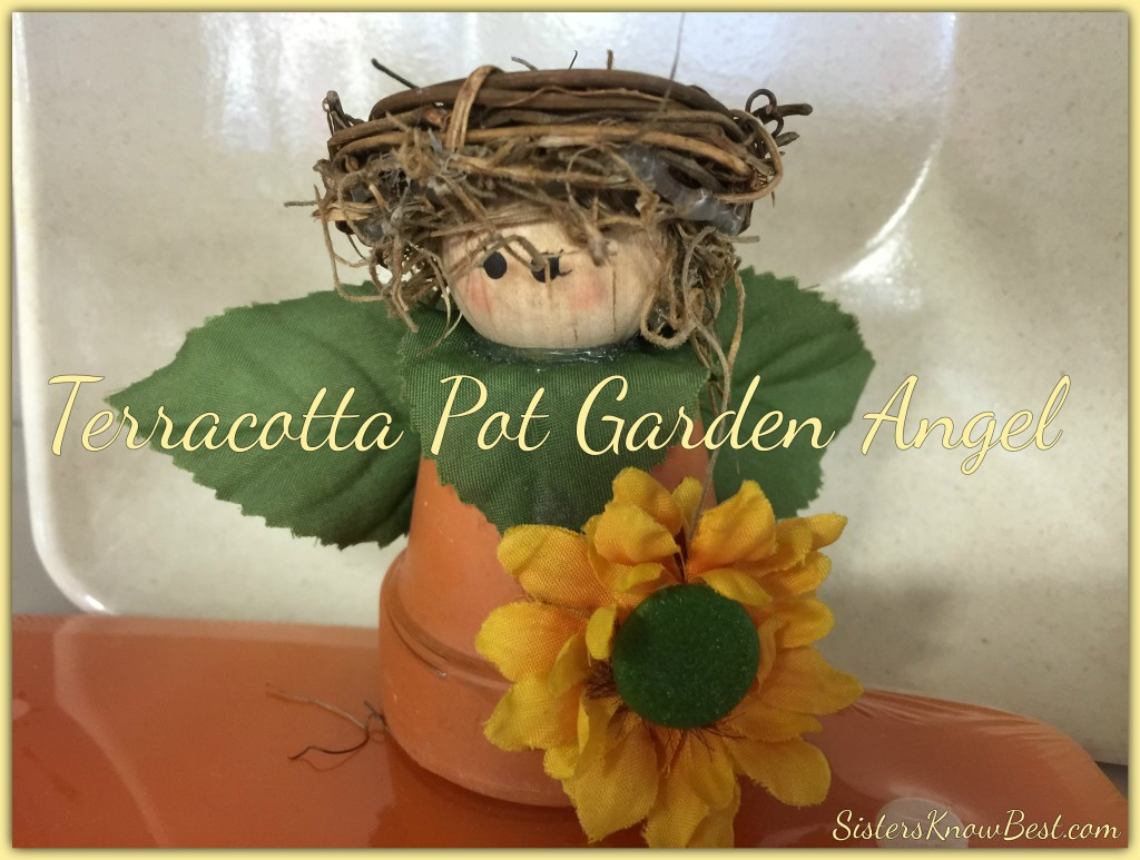 DIY Terracotta Pot Garden Angel