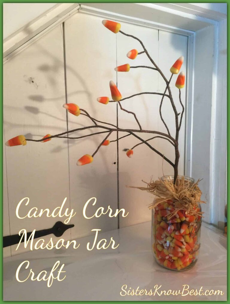 Candy Corn Halloween Mason Jar Craft